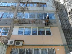 Утепление балконов,лоджий,эркеров.пенопластом